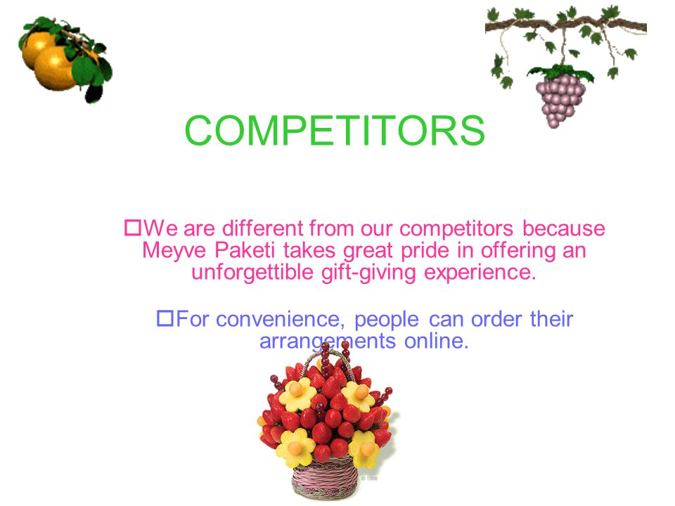 For convenience, people can order their arrangements online.