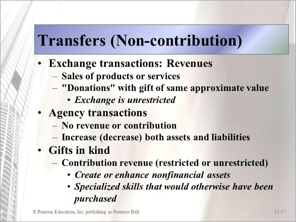 Transfers (Non-contribution)