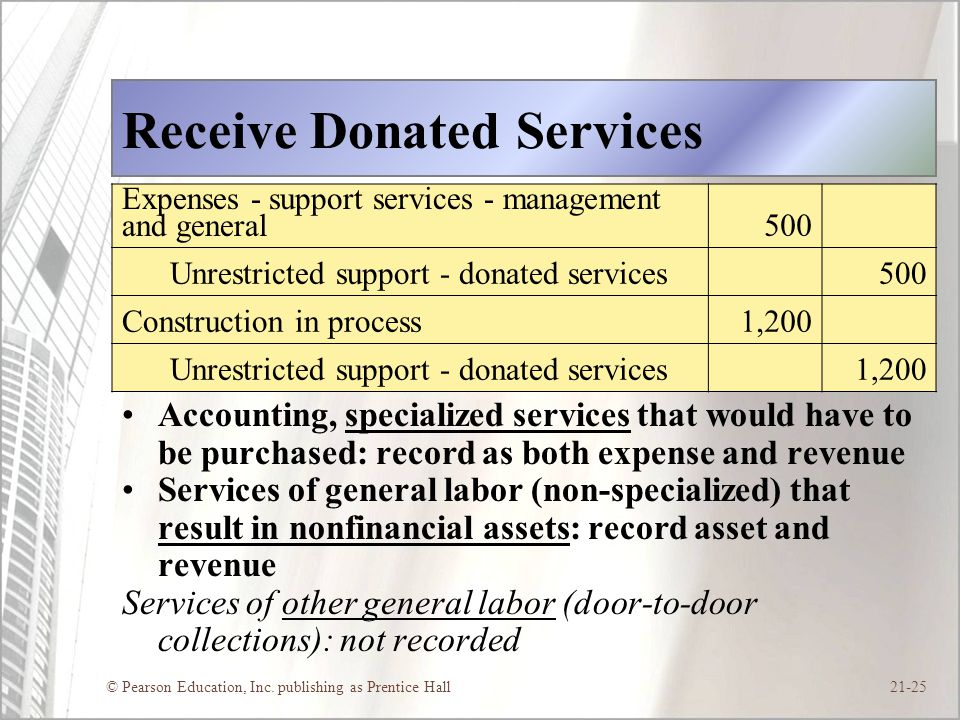 Receive Donated Services