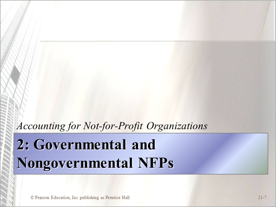 2: Governmental and Nongovernmental NFPs