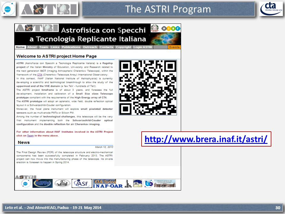 The ASTRI Program http://www.brera.inaf.it/astri/