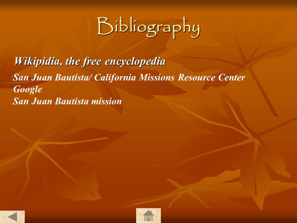 Bibliography Wikipidia, the free encyclopedia
