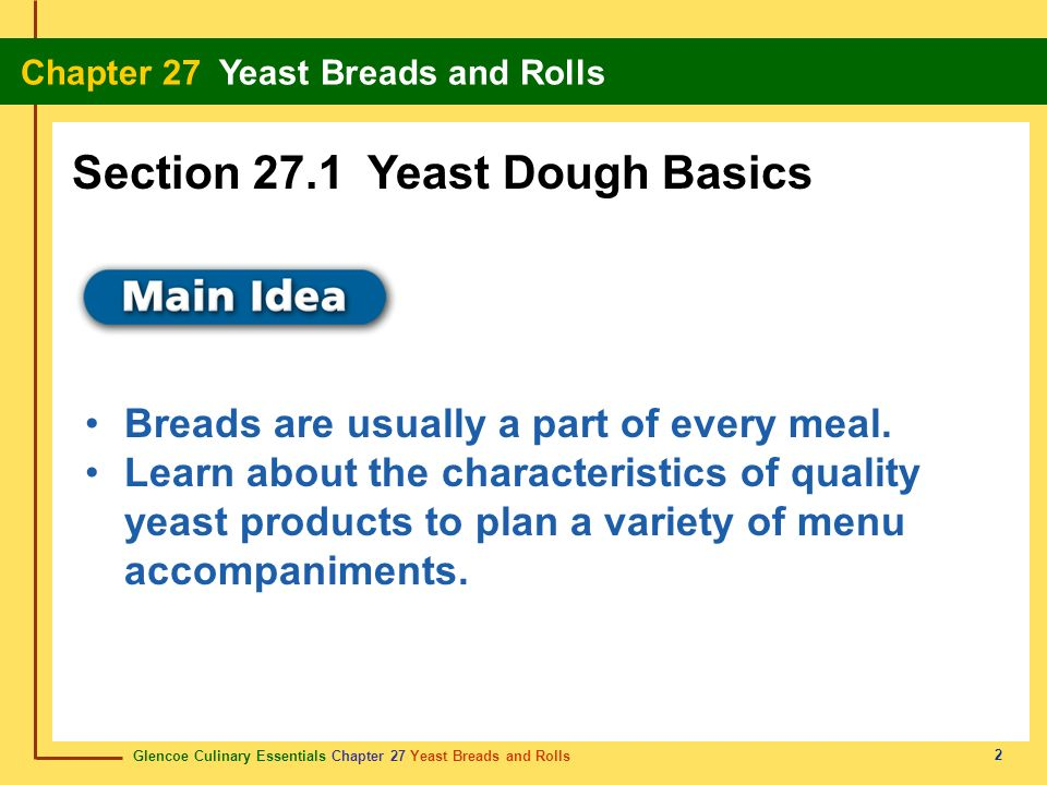 Section 27.1 Yeast Dough Basics
