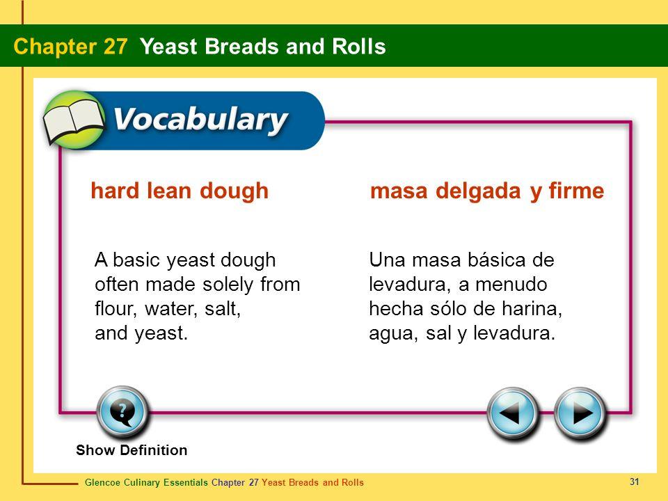 hard lean dough masa delgada y firme