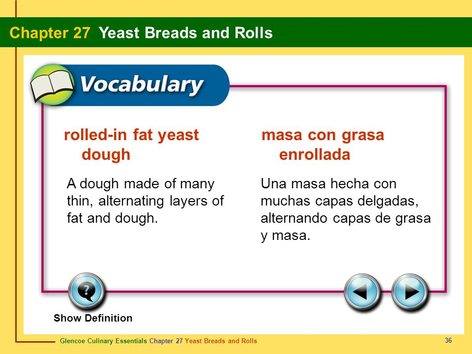 rolled-in fat yeast masa con grasa dough enrollada
