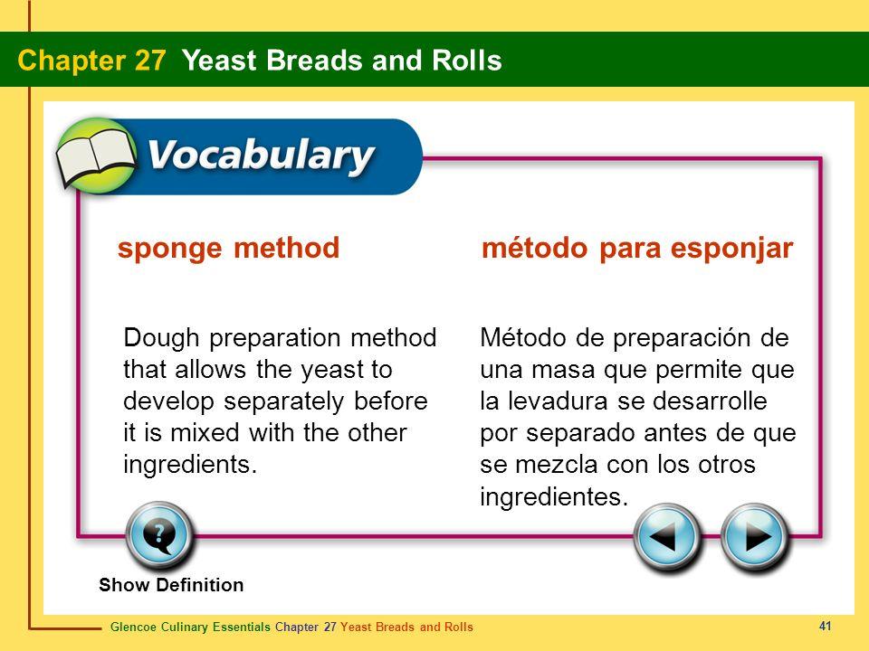 sponge method método para esponjar