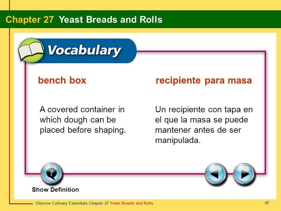 bench box recipiente para masa