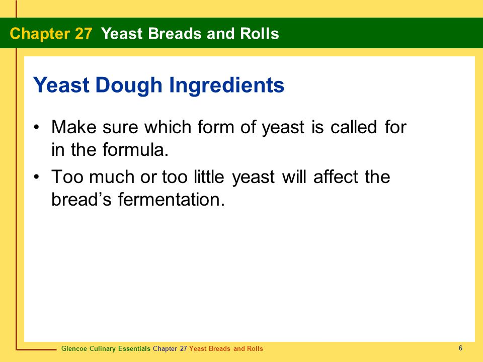 Yeast Dough Ingredients