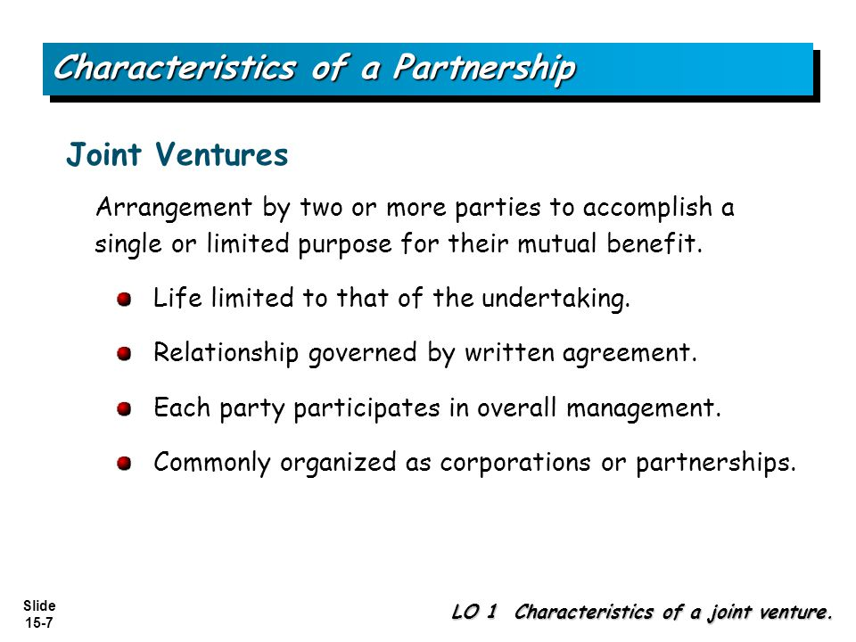 Characteristics of a Partnership