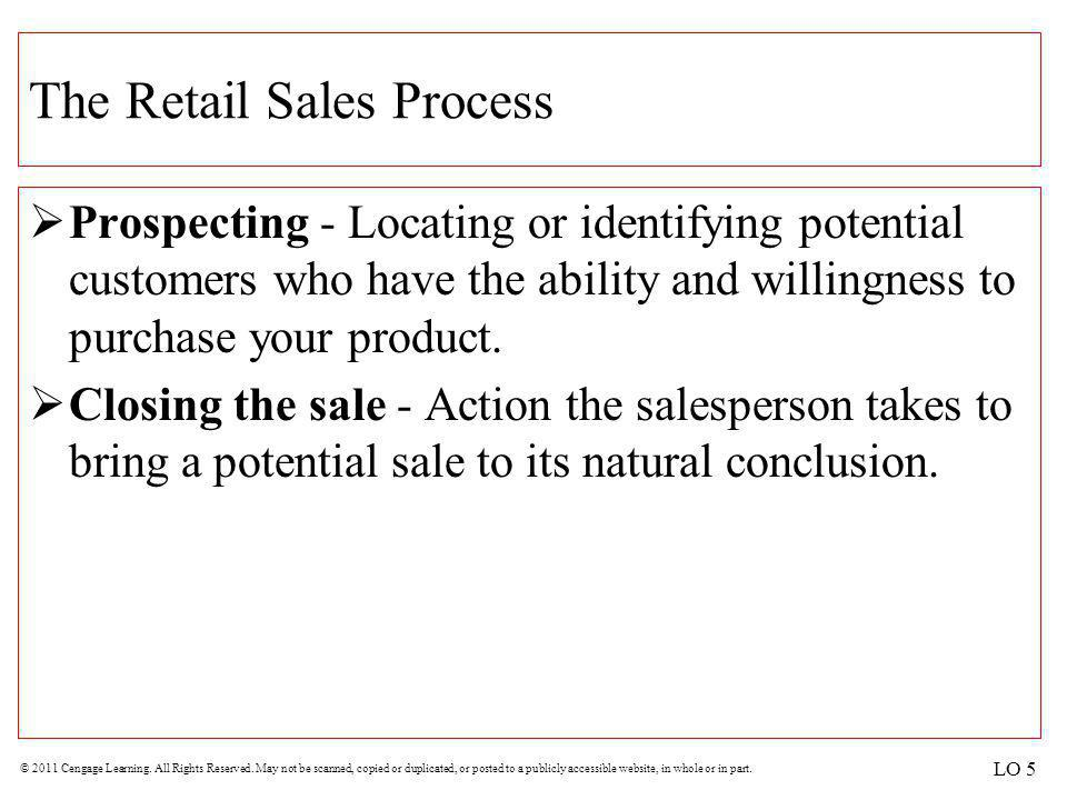 The Retail Sales Process