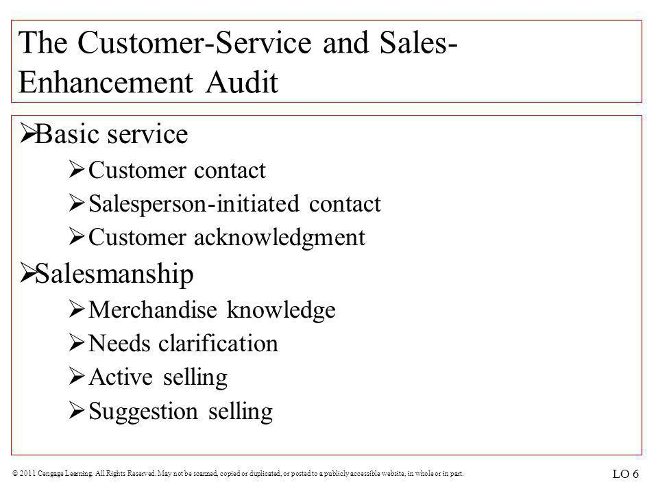The Customer-Service and Sales-Enhancement Audit