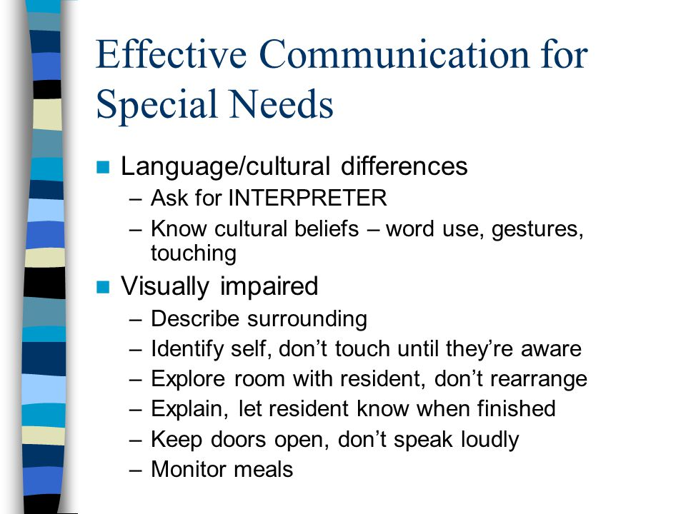 Effective Communication for Special Needs