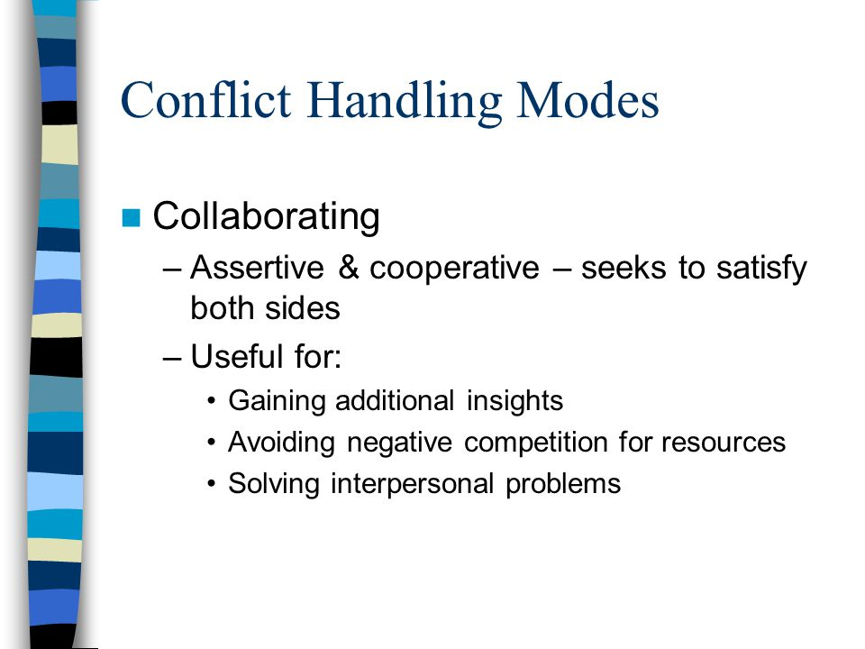 Conflict Handling Modes