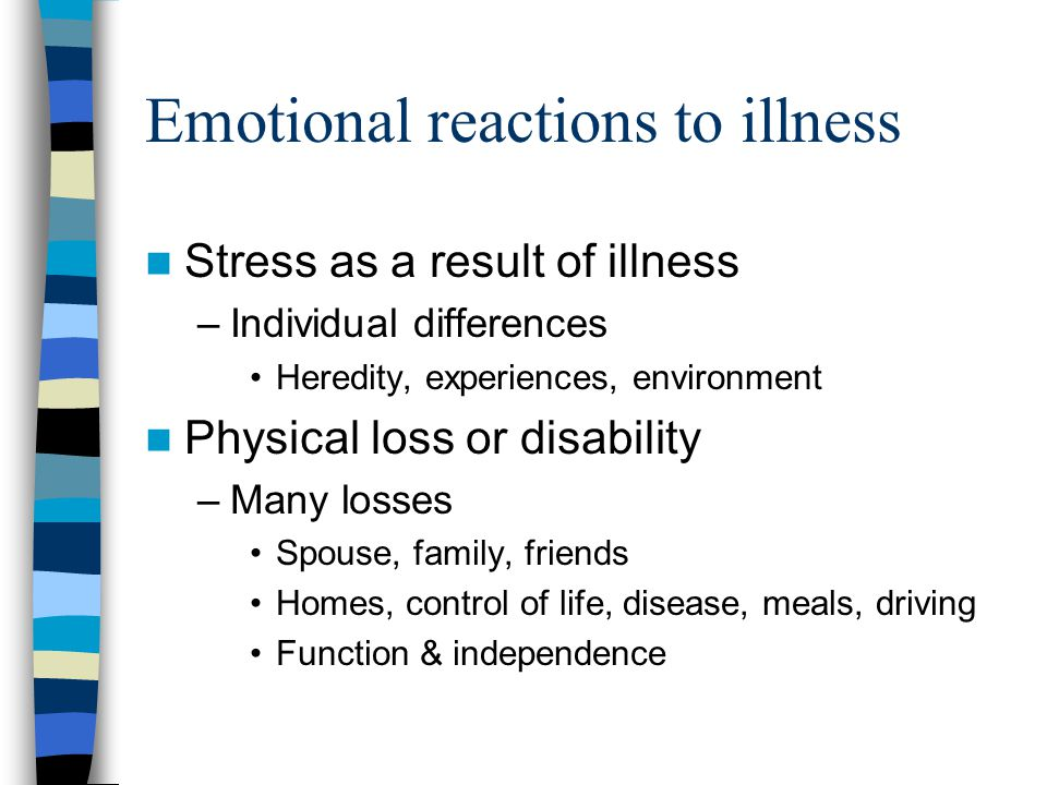 Emotional reactions to illness