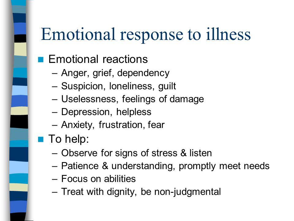 Emotional response to illness