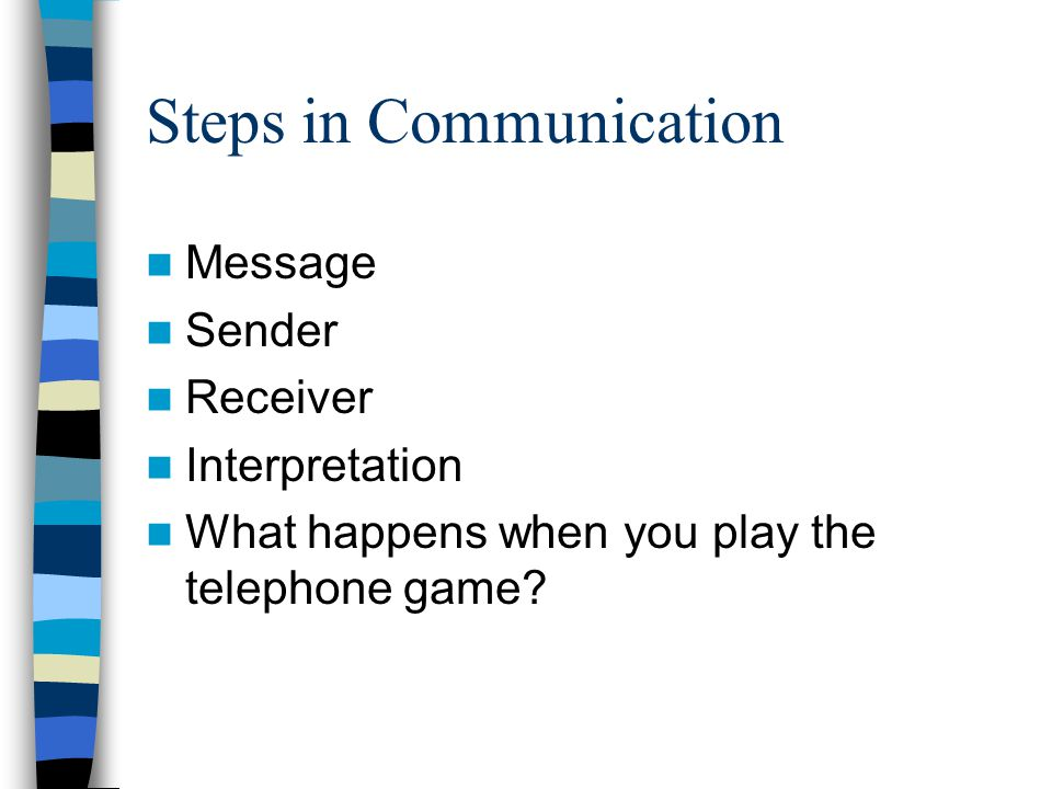 Steps in Communication