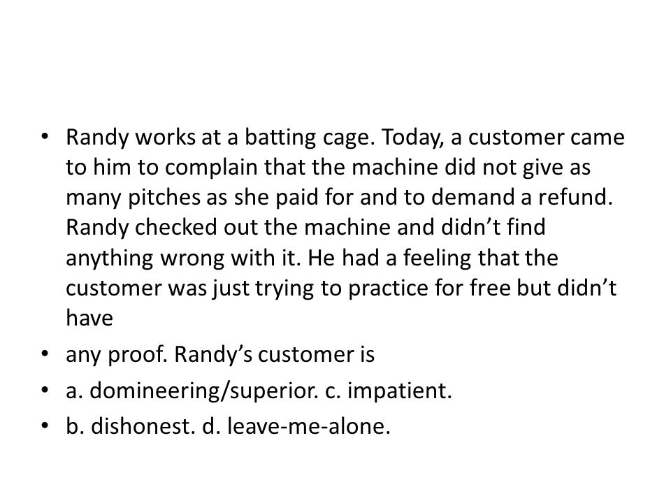 Randy works at a batting cage