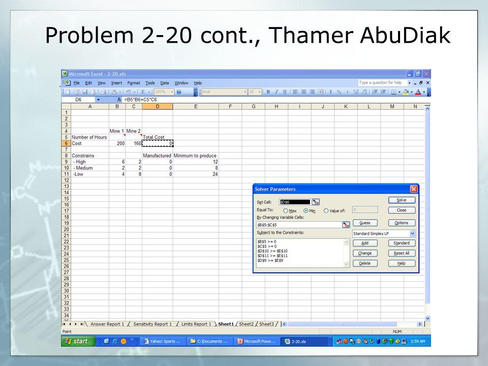 Problem 2-20 cont., Thamer AbuDiak