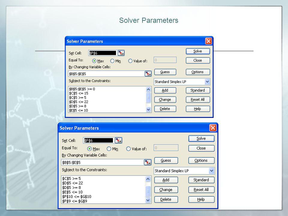 Solver Parameters