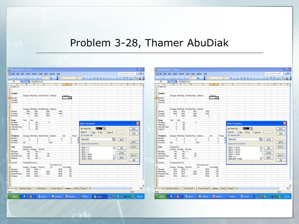 Problem 3-28, Thamer AbuDiak