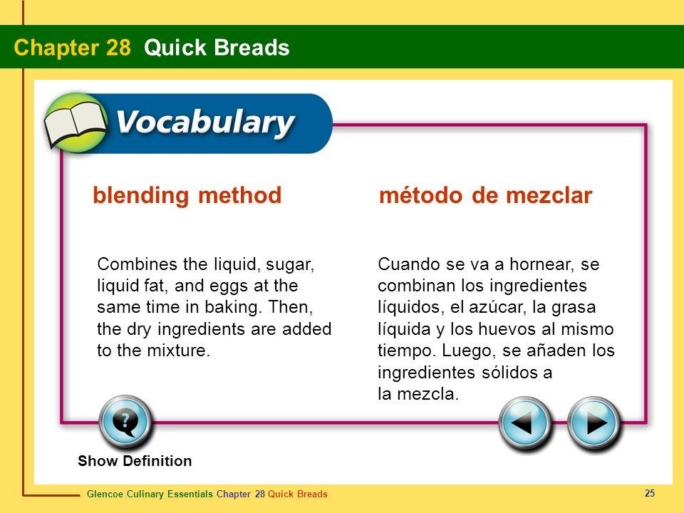 blending method método de mezclar