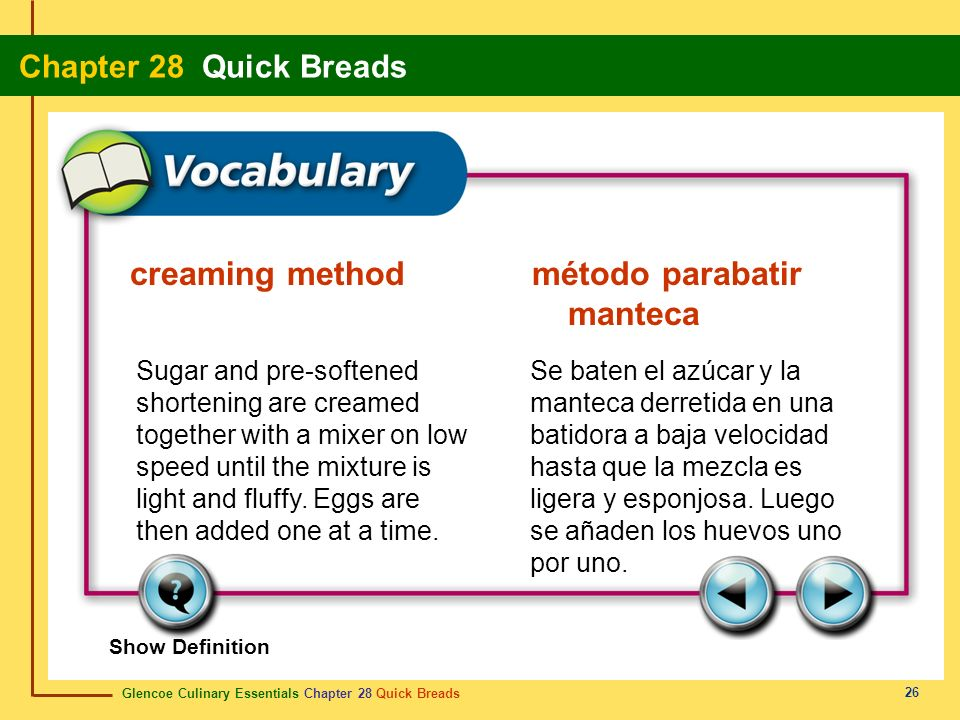 creaming method método parabatir manteca