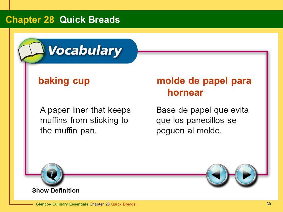 baking cup molde de papel para hornear