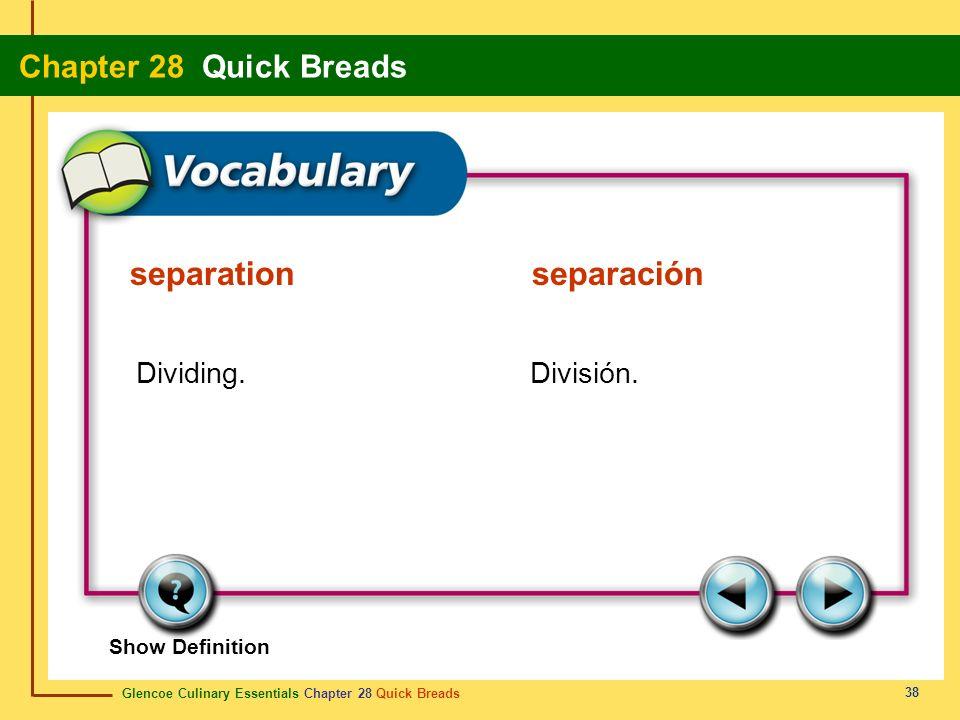 separation separación
