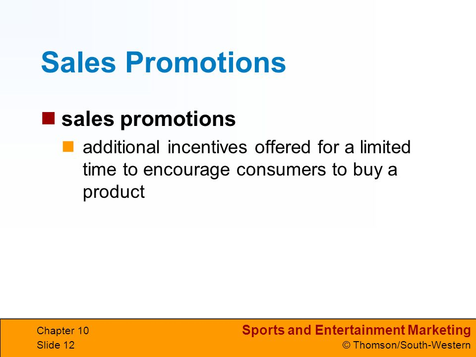 Sales Promotions sales promotions