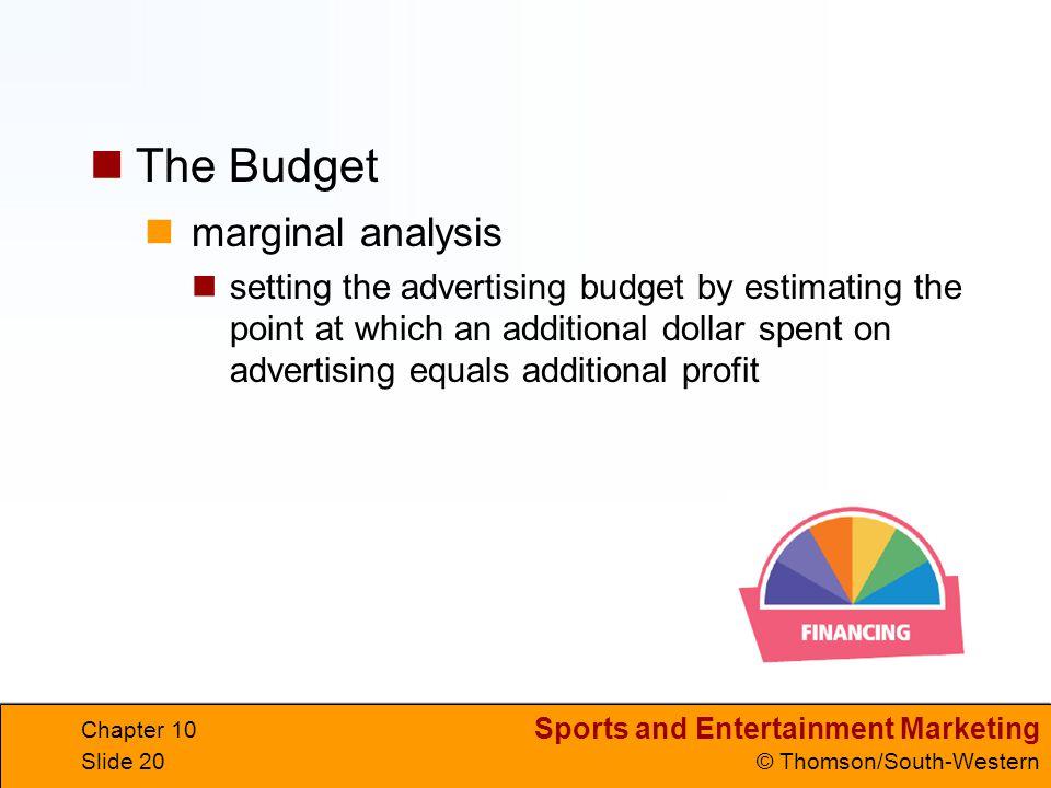 The Budget marginal analysis