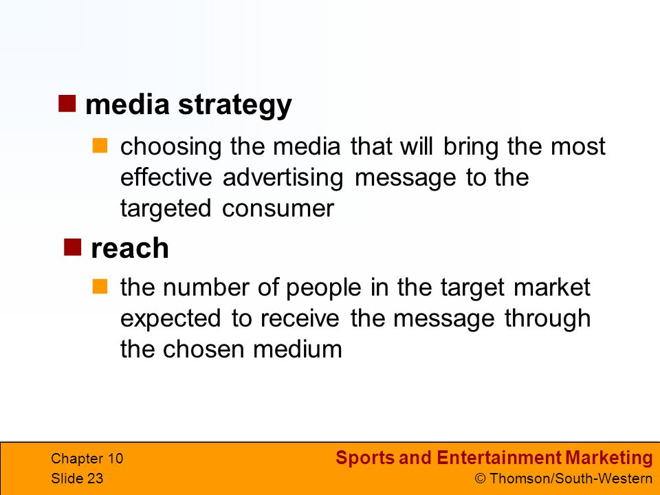 media strategy choosing the media that will bring the most effective advertising message to the targeted consumer.