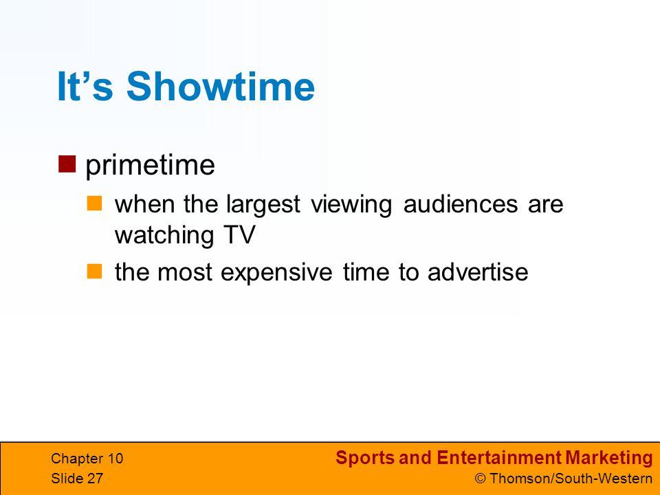 It's Showtime primetime