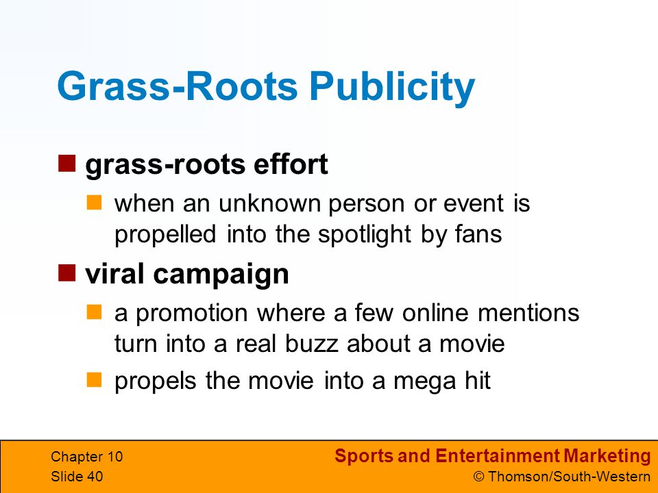 Grass-Roots Publicity