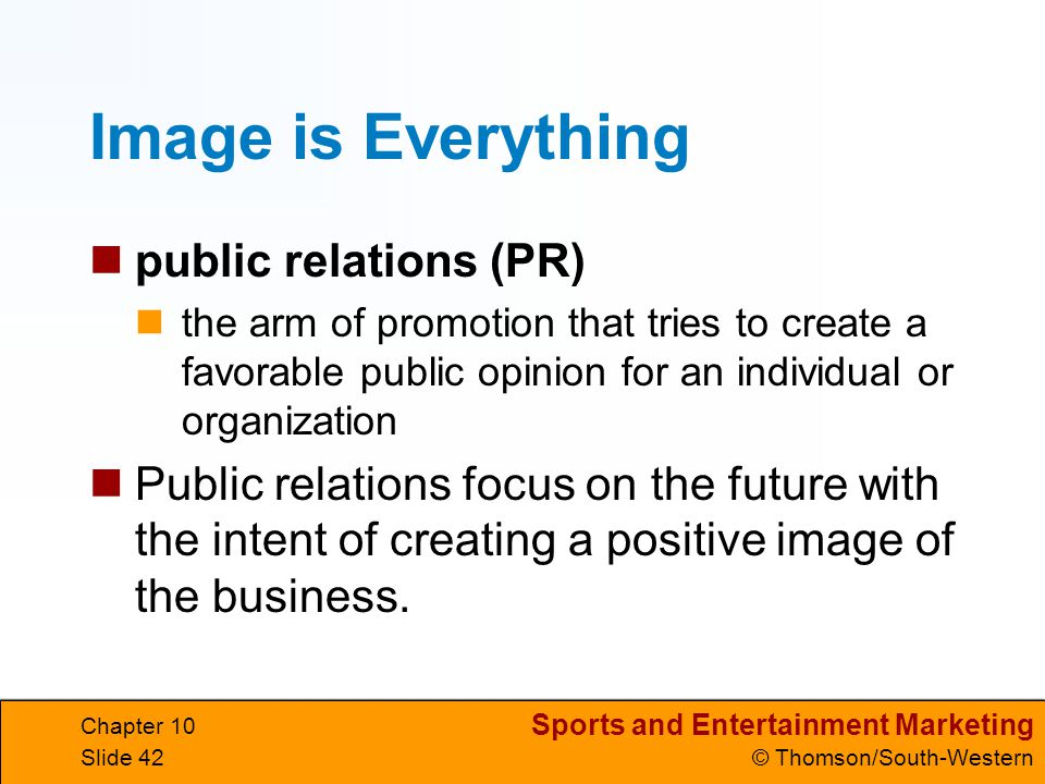 Image is Everything public relations (PR)