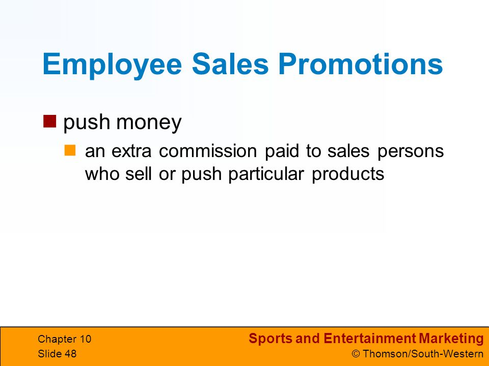 Employee Sales Promotions