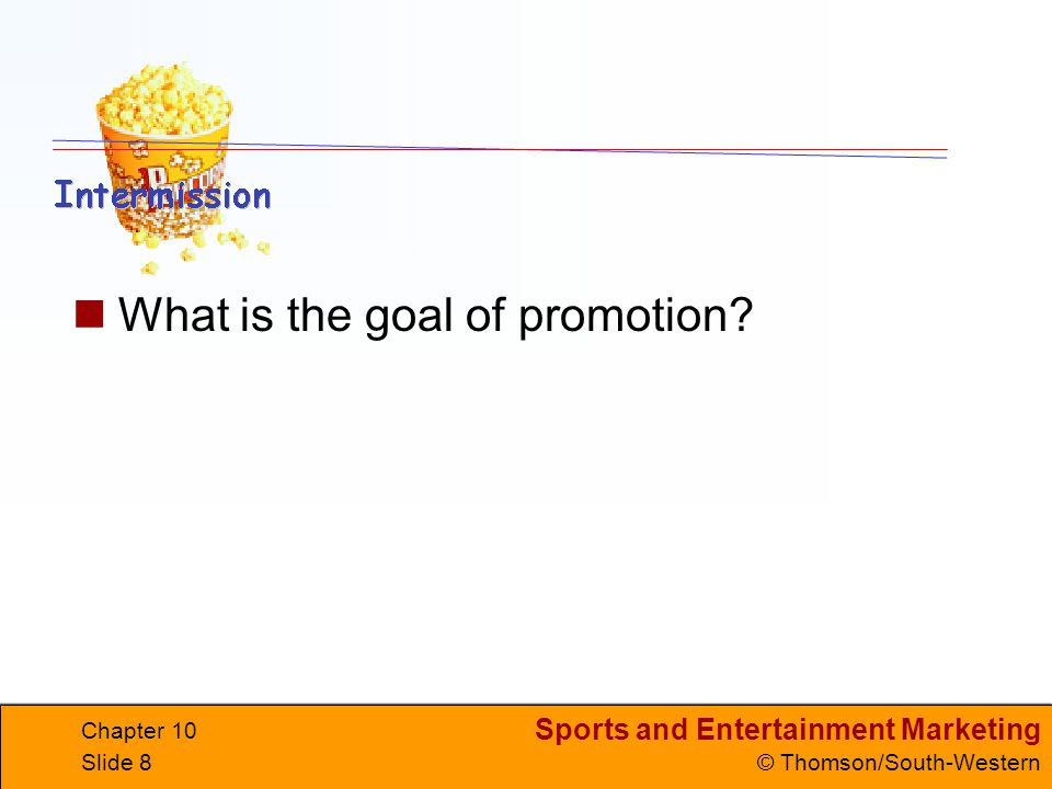 What is the goal of promotion