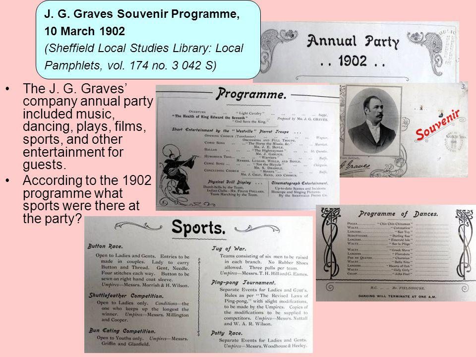According to the 1902 programme what sports were there at the party