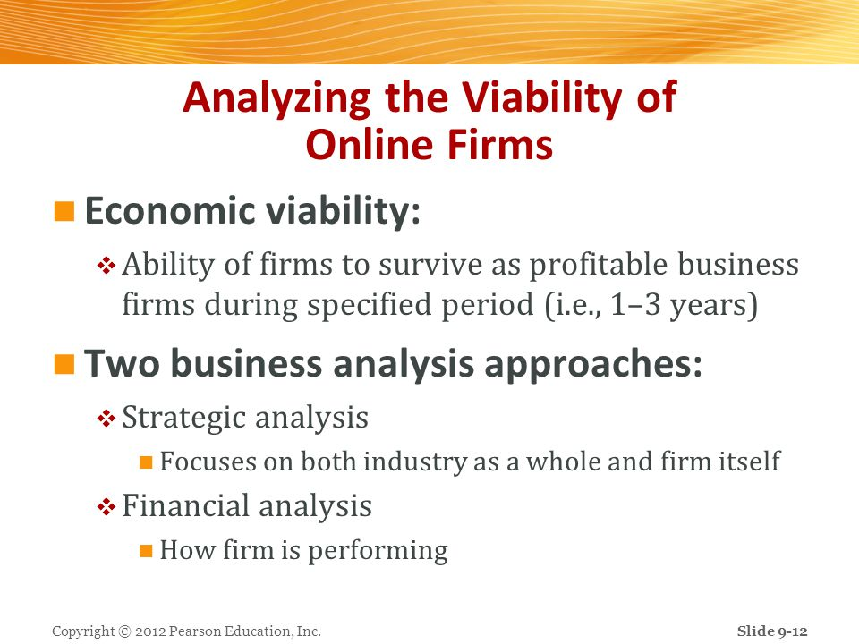 Analyzing the Viability of Online Firms