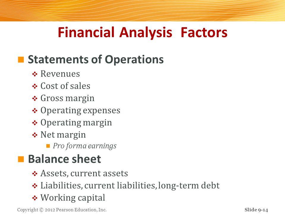 Financial Analysis Factors