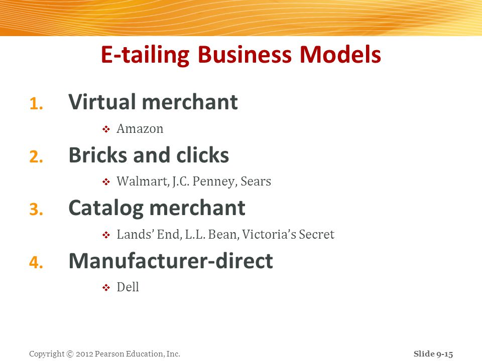 E-tailing Business Models
