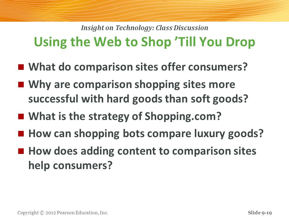 Using the Web to Shop 'Till You Drop