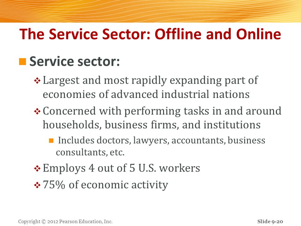 The Service Sector: Offline and Online