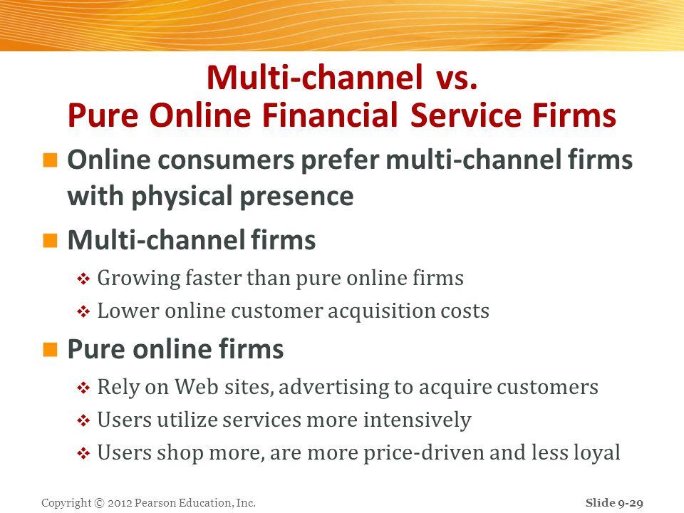 Multi-channel vs. Pure Online Financial Service Firms