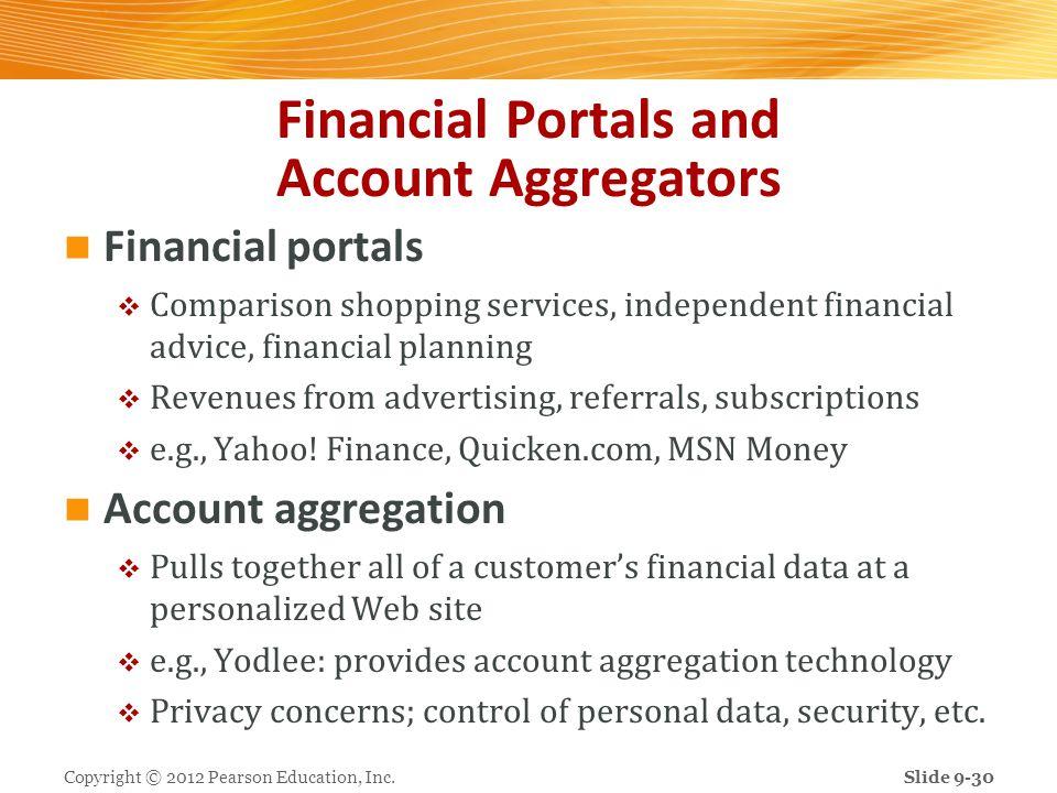 Financial Portals and Account Aggregators