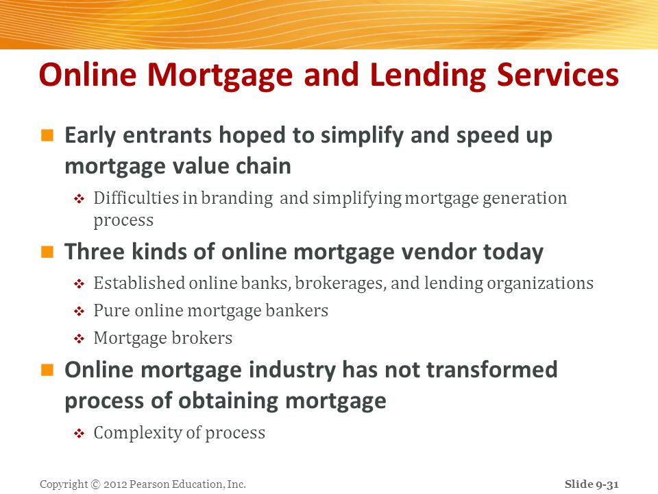 Online Mortgage and Lending Services