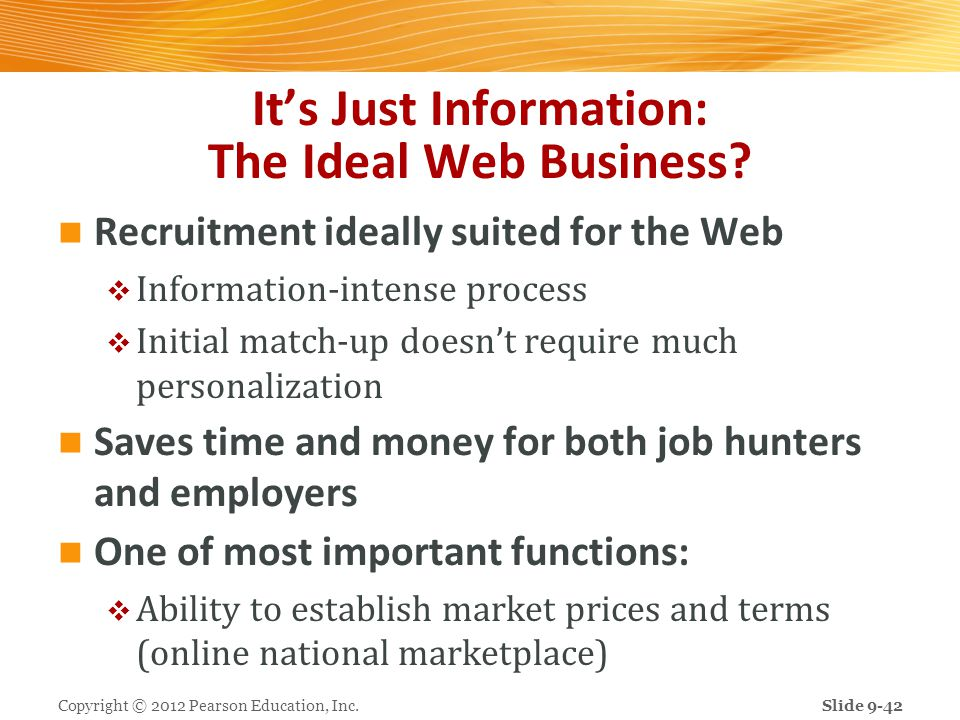 It's Just Information: The Ideal Web Business