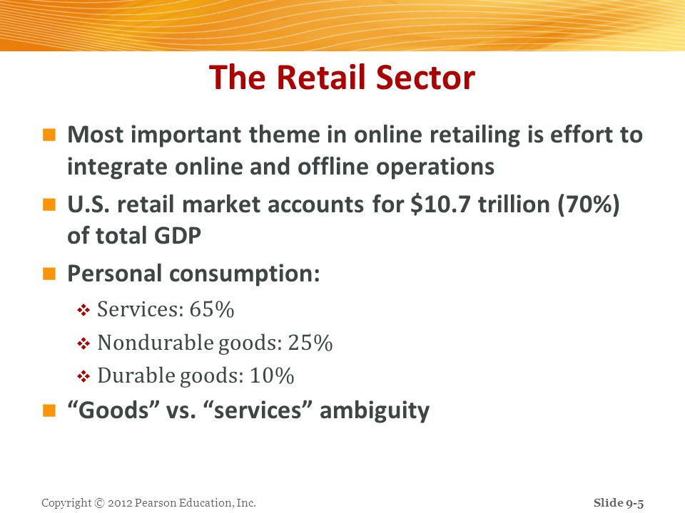 The Retail Sector Most important theme in online retailing is effort to integrate online and offline operations.