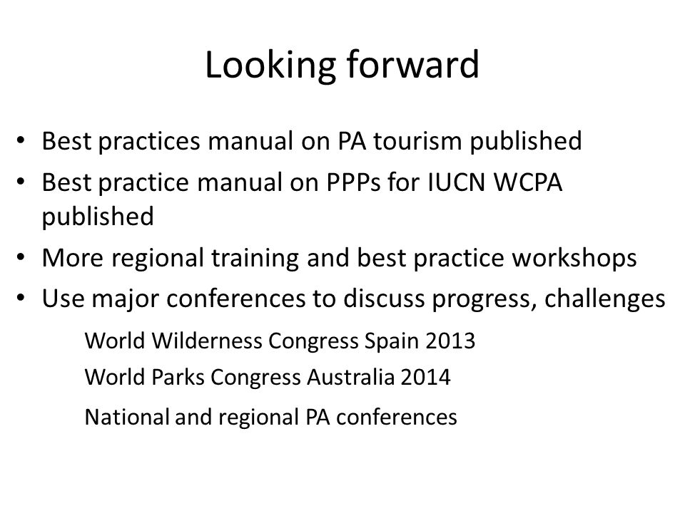 Looking forward Best practices manual on PA tourism published
