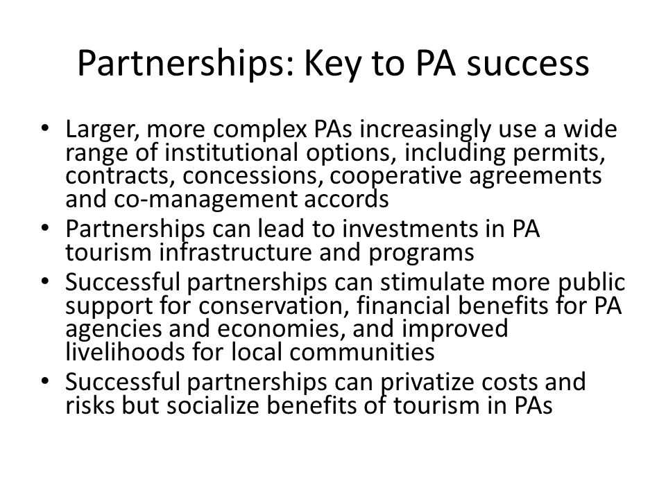 Partnerships: Key to PA success