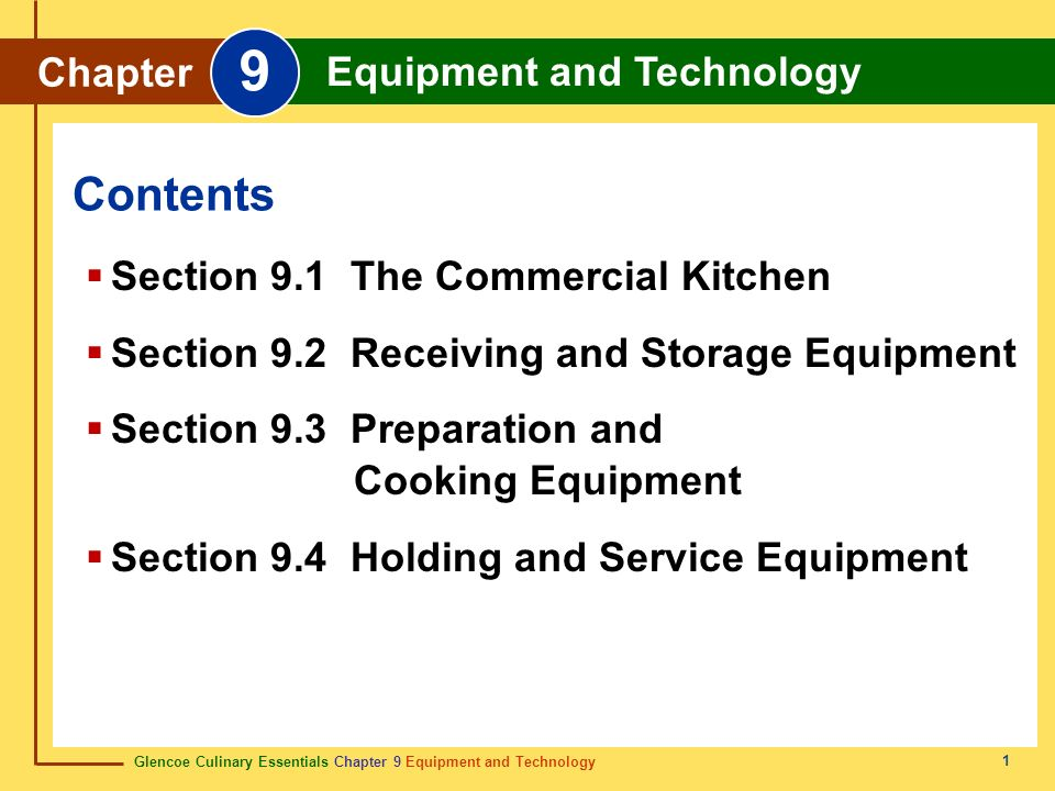 Section 9.1 The Commercial Kitchen